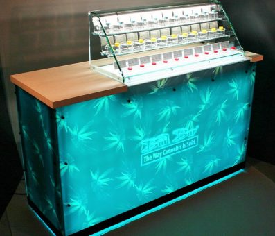Bud Bar Counter n Blue (Cannabis Display)