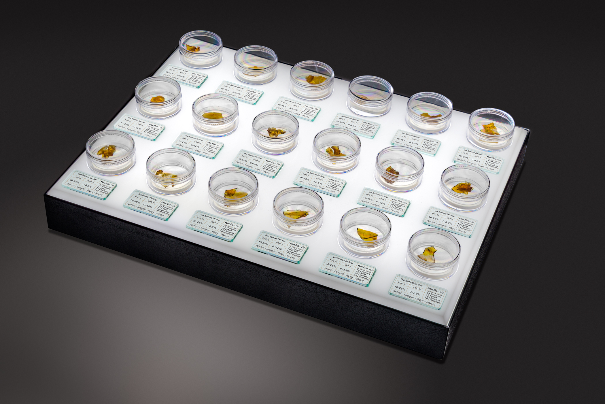 Single Xtract Tray w-Sign Blocks & LED Light Box