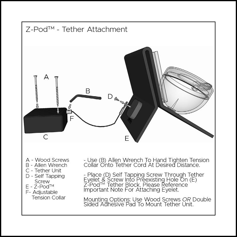 Z-Pod Tether attachment