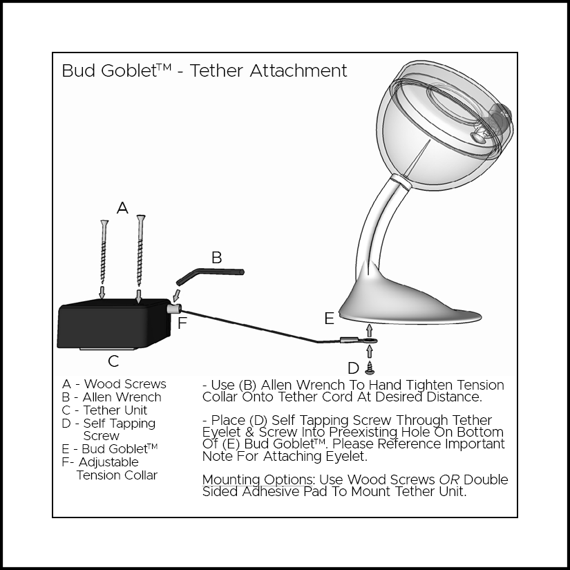 Bud Goblet Tether Attachment
